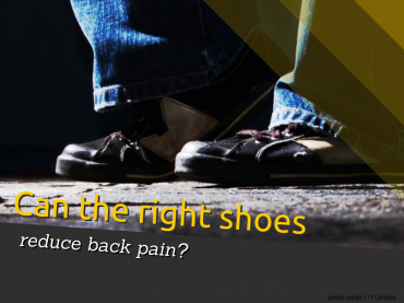 shoes reduce back pain